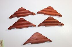 Lot of 5 roof pieces Wooden Lincoln Logs 5