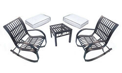 Wrought Iron Patio Furniture Rocking Chair Cushions Sale Discount 3 Piece Set