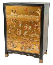 5-Drawer Village Life Chest with Gold Leaf [ID 3294089]