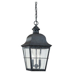 Sea Gull Lighting Colonial Bronze Outdoor Hanging Lantern - 6062-46