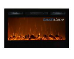 Electric Fireplace Black  Sideline 36? Wide (Wall inset design)