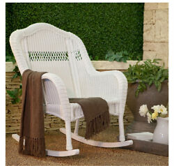 Rocking Chair Cushion Pad Set for Adults Outdoor Nursery Wicker Patio Porch Blue