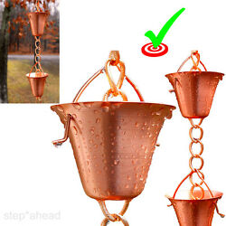 Rain Gutter Chain Japanese Rain Chains Copper Cups Chain Downspout Replacement