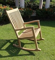 Kingston Grade-A Teak Outdoor Garden Patio Rocker Rocking Chair Furniture New