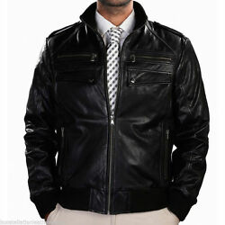 Leather Jackets Bomber Style Soft Lambskin Jacket Online Sale Discount # M- 745