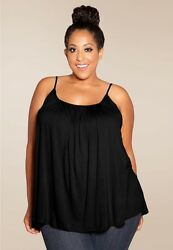 Plus Size Top 1X 6X SWAK Pretty Cami USA MADE Rayon Spandex Many Colors NEW $28.91
