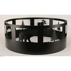 Coast Lamp Rustic Living Pine Tree & Wildlife Campfire Ring Black - 15-R30B