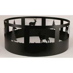 Coast Lamp Rustic Living Pine TreeDeer Campfire Ring Black - 15-R30H