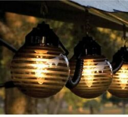 RV Patio Lights Party Porch Backyard Awning String Lamp Large Globe Outdoor Deck
