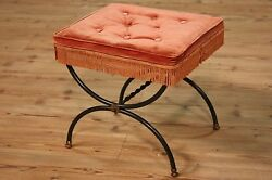 Pouf footstool stool furniture iron velvet vintage antique style bench chair 900