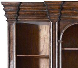 ENTERTAINMENT UNIT CENTER CATHEDRAL OLD WORLD DARK RUSTIC PECAN NEW DETAI