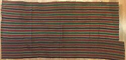 Tremendous Tusheti - Antique Silk Jajim Fabric - Georgian Textile - 2.10 x 6 ft.