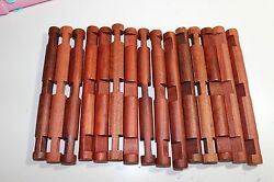 Lot of 15 Wooden Lincoln Logs 7-12