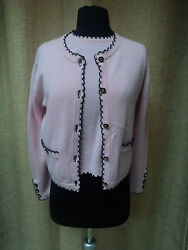 CHANEL Cashmere Two Piece Cardigan and Top set Size 4244!!
