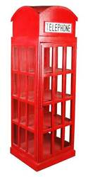 English Phone Booth Cabinet in Red Finish [ID 3528731]