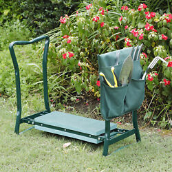 Foldable Kneeler Garden Kneeling Bench Stool Soft Cushion Seat Pad  $26.99