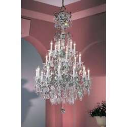 Classic Lighting Via Venteo Crystal Chandelier Ebony Pearl - 57024EPC