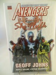 AVENGERS SEARCH FOR SHE HULK HC Hardcover $24.99srp SEALED Geoff Johns Free Ship