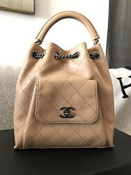 NWT Chanel Backpack tan leather
