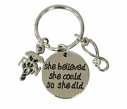 Nurse Keychain She Believed She Could So She Did Keychain Appreciation Gift