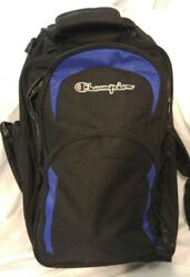Champion Equipment 21quot; Rolling Back Pack Black and Blue $34.99