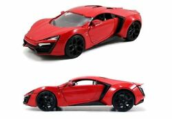 NEW JADA 124 DOM'S LYKAN HYPERSPORT DIECAST MODEL THE FAST AND THE FURIOUS CARS
