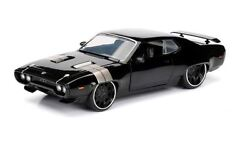 NEW JADA 124 DOM'S PLYMOUTH GTX DIECAST MODEL THE FATE OF THE FURIOUS TOYS CARS