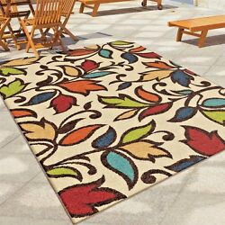 RUGS AREA RUGS OUTDOOR RUGS INDOOR OUTDOOR RUGS OUTDOOR CARPET LARGE FLORAL RUGS