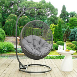 Modway Furniture Hide Outdoor Patio Swing Chair in Gray - EEI-2273-GRY-GRY