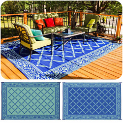 Extra Large Outdoor Rug Camping Oversized Beach Mat Patio Deck RV Camp 9' x 18'