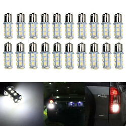 20x DC12V 1156 1141 1003 BA15S 18 SMD Interior RV Camper White LED Light Bulbs