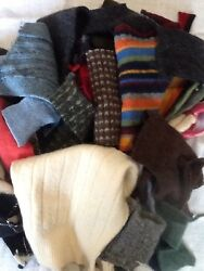 LOT 7  FELTED WOOL SWEATER SCRAP SM- Med Pieces 1 LB FOR WOOL APPLIQUE PROJECTS