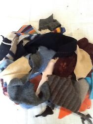 LOT 4  FELTED WOOL SWEATER SCRAP SM- Med Pieces 1 LB FOR WOOL APPLIQUE PROJECTS
