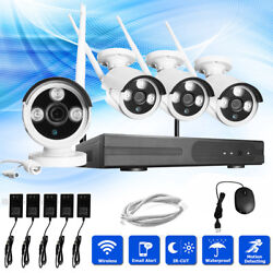 Self-Contain 720P 4CH Home Plug Wireless Outdoor Security IP Camera CCTV System