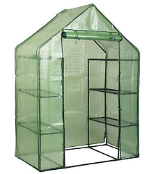 Walk In Greenhouse Portable Mini Outdoor 8 Shelves 4 Tier Garden Plant Growth