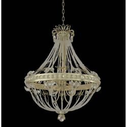 Allegri Orleans 8 Light Chandelier Champagne Silver Clear - 021252-035-FR001