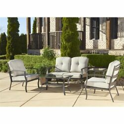 Love Seat Table Set Home Outdoor Patio Furniture Decor Cushioned Wicker Calm New
