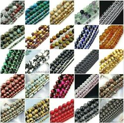 Natural Gemstone Round Loose Bead 4mm 6mm 8mm 10mm 12mm 15quot; strand wholesale $3.39