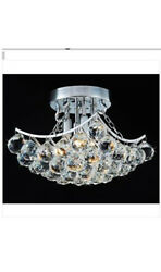 Indoor 4-Light Chrome And Crystal Flushmount Chandelier Home Decor Ceiling light $459.00