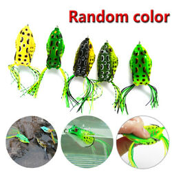 5x high Quality Fishing Lures Frog Topwater Crankbait Hooks Bass Bait Tackle $11.21
