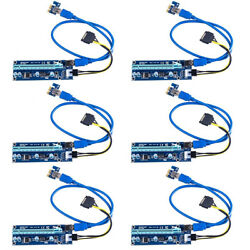 BSTools 6Pack VER 006C PCI E 16x to 1x Powered Riser Adapter Card 24quot;USB3.0 SATA $50.89