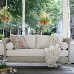 Resin Wicker Deep Seating Hanging Porch Swing Bed Outdoor Home Patio Furniture