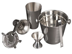 5 Pc Cocktail Shaker amp; Bar Accessories Drink Mixer amp; Cocktail Set Barware $15.99