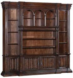ENTERTAINMENT UNIT CENTER CATHEDRAL OLD WORLD SOLID WOOD DARK RUSTIC PECA
