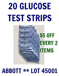 20 Abbott Blood GLUCOSE 12/31/20 Test Strips for PRECISION XTRA  $13.99
