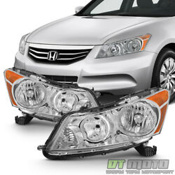 For  2008 2009 2010 2011 2012 Honda Accord 4Dr Sedan Headlights Headlamps 08-12 $99.99