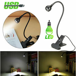Rechargeable USB Clip On LED Desk Lamp Home Office Reading Night Light Dimmable $7.97