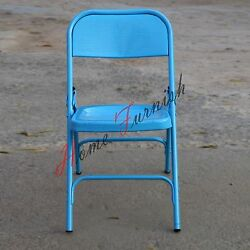 Antique Vintage Look Iron Metal Folding Outdoor Chairs Garden Chair  Colorful