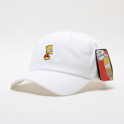 Licensed Unisex Mens The Simpsons Bart Simpson Baseball Cap Trucker Hats White
