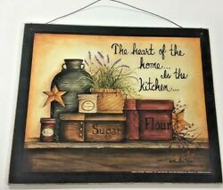 Heart of the Home is the Kitchen wooden sign country decor decorations black